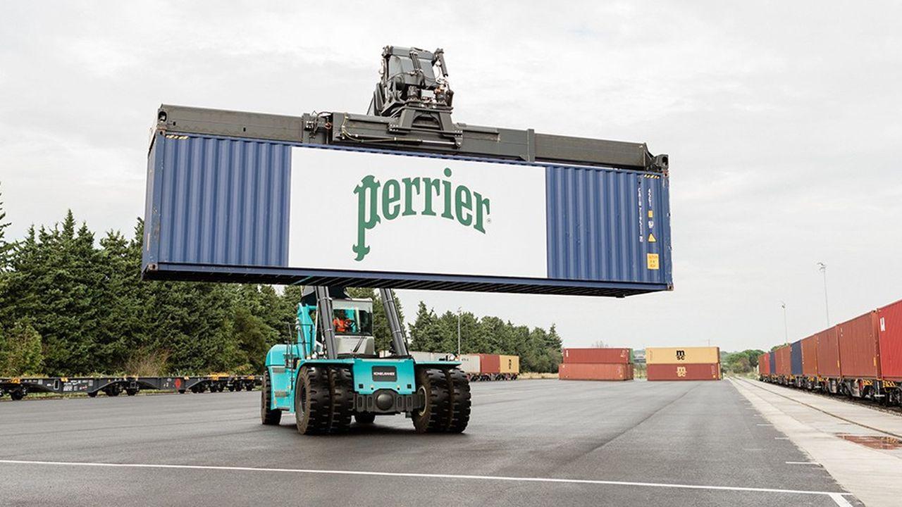 13.500 conteneurs par an seront acheminés entre Vergèze et Fos sur Mer par Perrier.