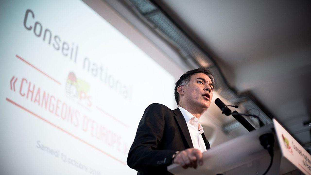 Olivier Faure lors du conseil national du PS sur l'Europe, le 13octobre à Paris.