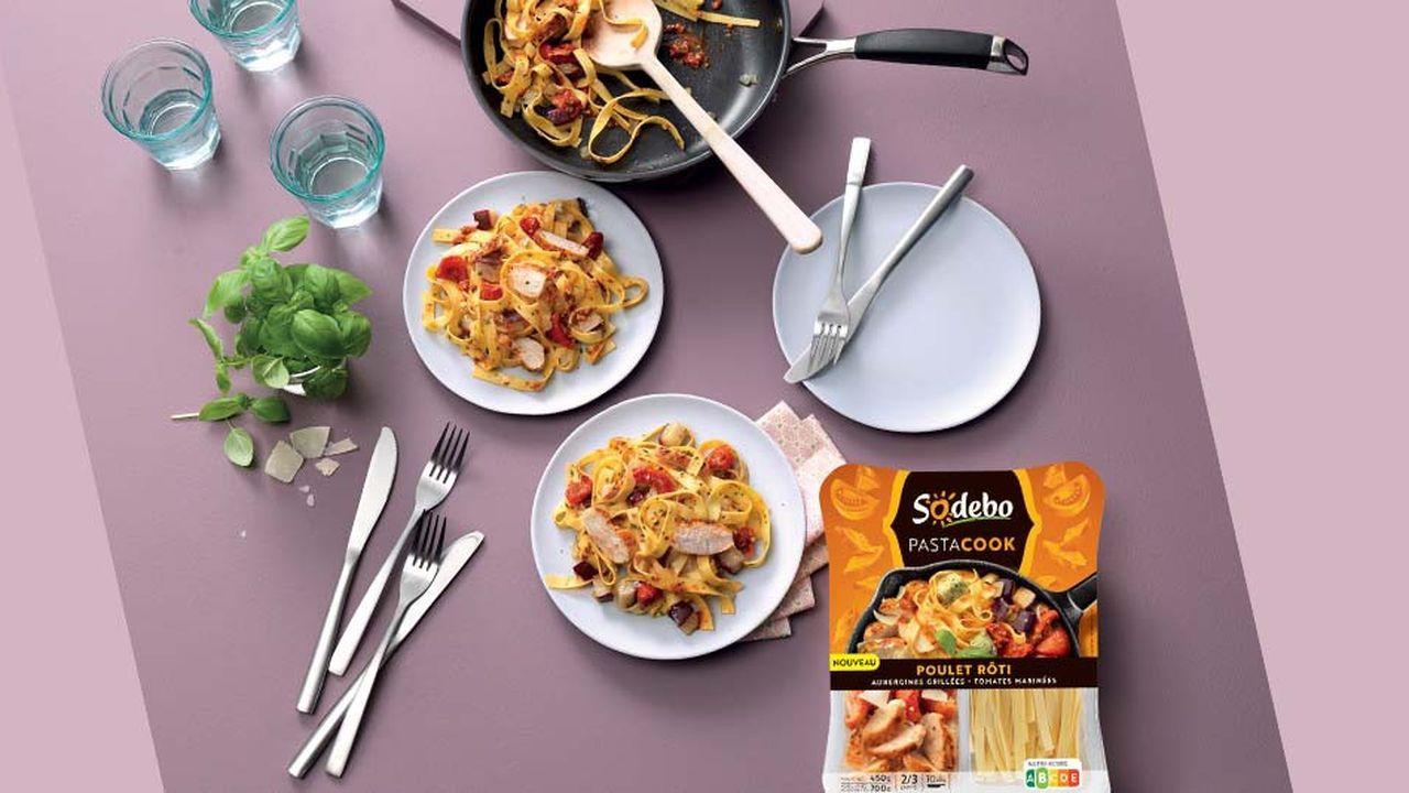 Les PastaCook réunissent pâtes fraîches et ingrédients variés à faire cuire ensemble dans une poêle en une dizaine de minutes. Elles s'adressent plus particulièrement aux consommateurs ayant peu de temps pour faire à dîner en semaine.