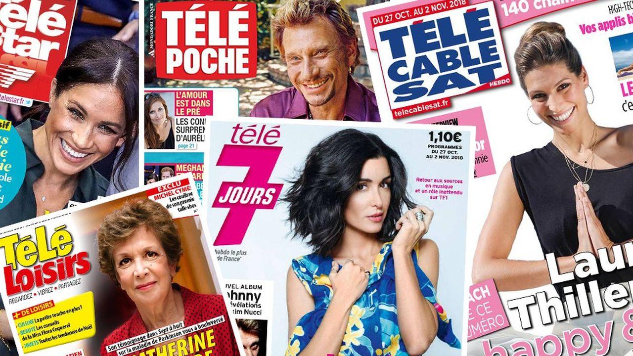 La presse télévisée est l'une des plus grosses familles de magazines en volume avec des ventes au-dessus du million d'exemplaires.