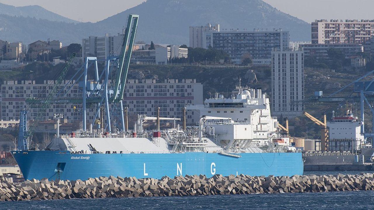 La part du gaz naturel liquéfié dans la consommation européenne est appelée à doubler d'ici à 2025 (ici à Marseille).