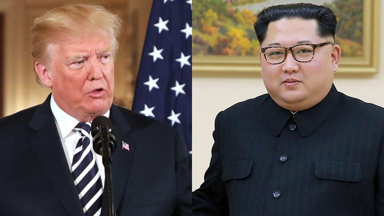 Le président des Etats-Unis (à gauche) va rencontrer en juin le dictateur nord-coréen Kim Jong-un (à droite).
