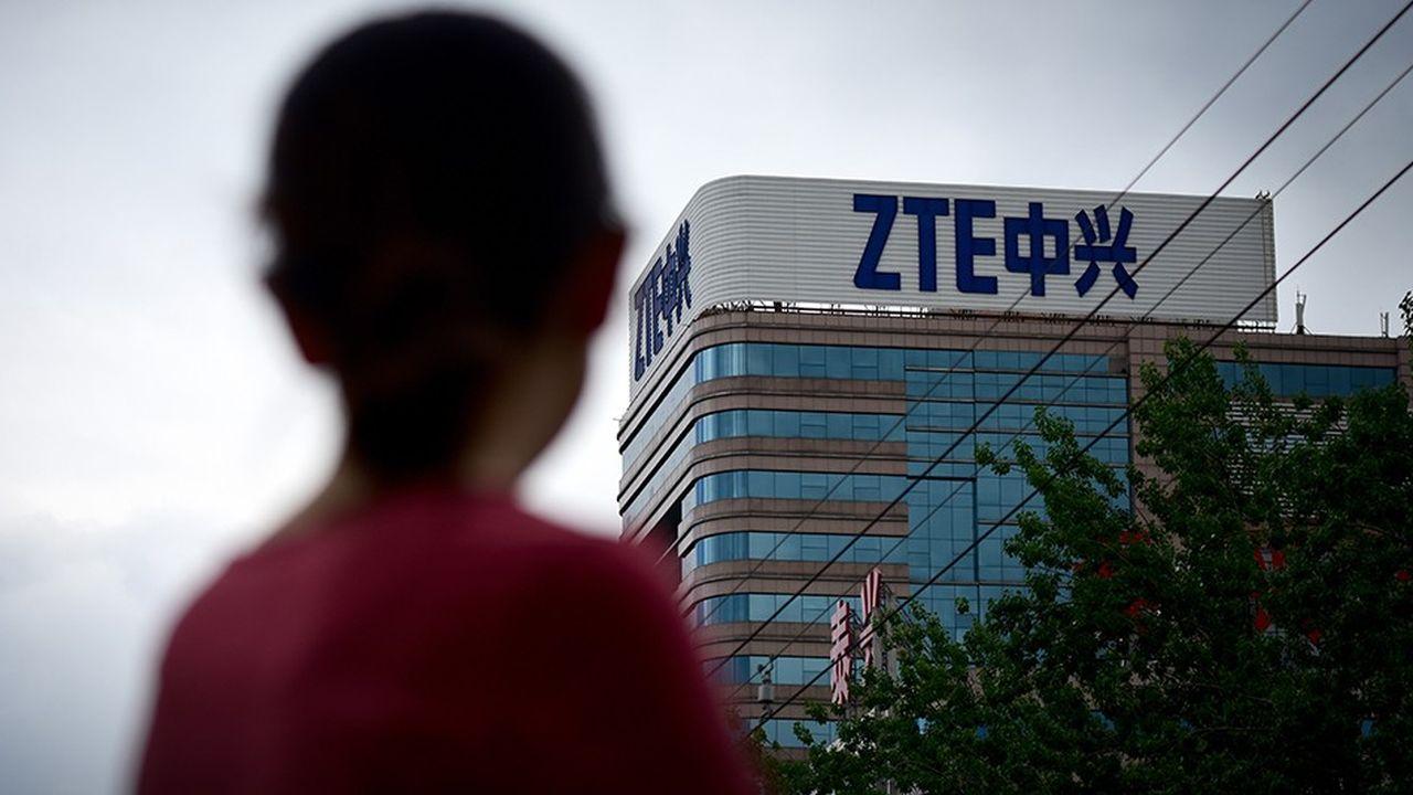 Le géant chinois des télécoms ZTE se retrouvait menacé par les sanctions américaines.