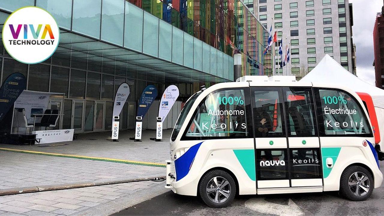 La société française Navya, qui évalue le coût des embouteillages à 340milliards de dollars par an dans le monde, a conçu des navettes autonomes.