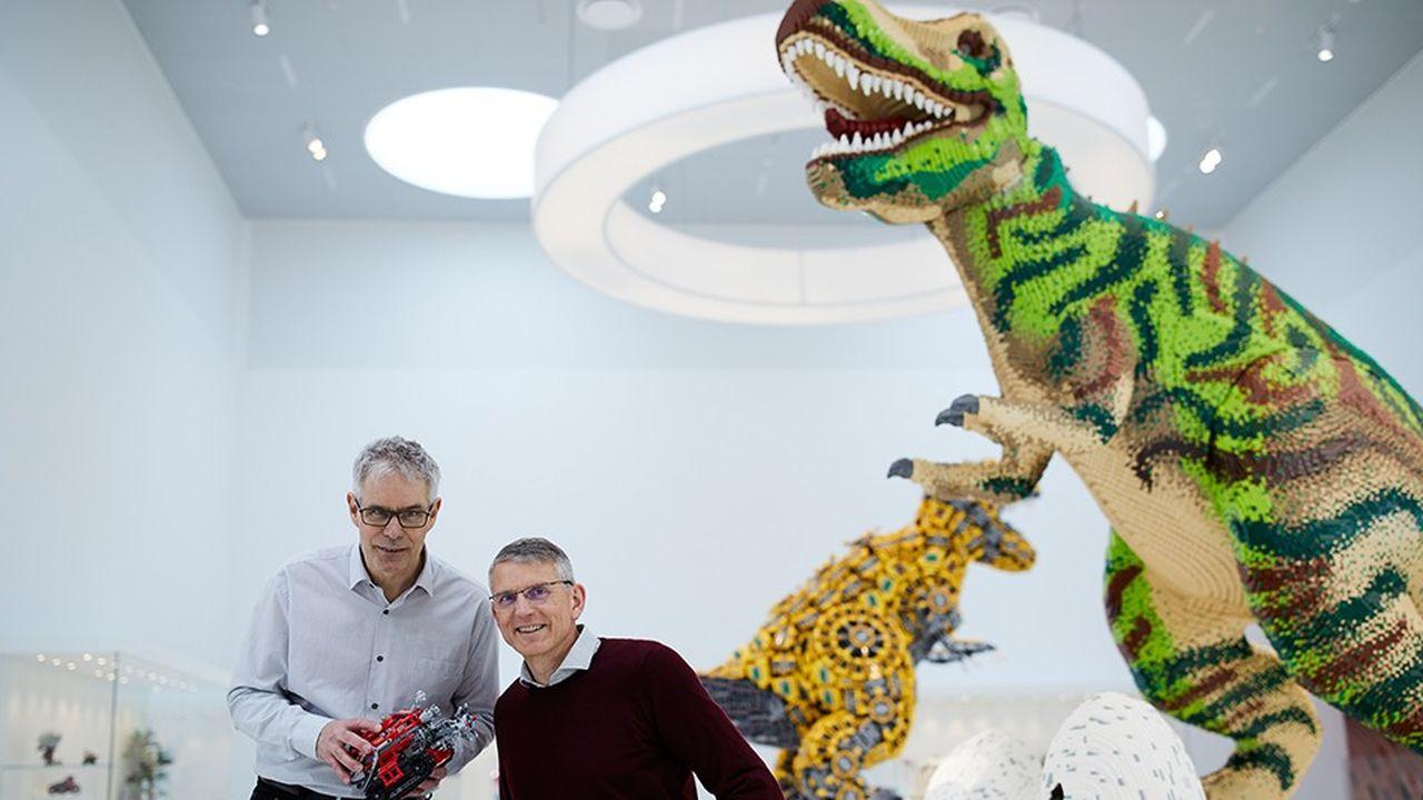 Gaute Munch, aujourd'hui directeur des technologies avancées chez Lego System, et Erik Hansen, directeur de l'innovation, inventeurs de Lego Mindstorms.