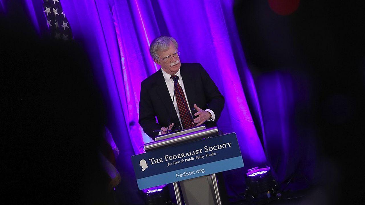 Lors d'un déjeuner, le 10septembre, à la Federalist Society à Washington, John Bolton, le conseiller de Donald Trump à la sécurité nationale, s'en est pris violemment à la Cour pénale internationale.Images/AFP