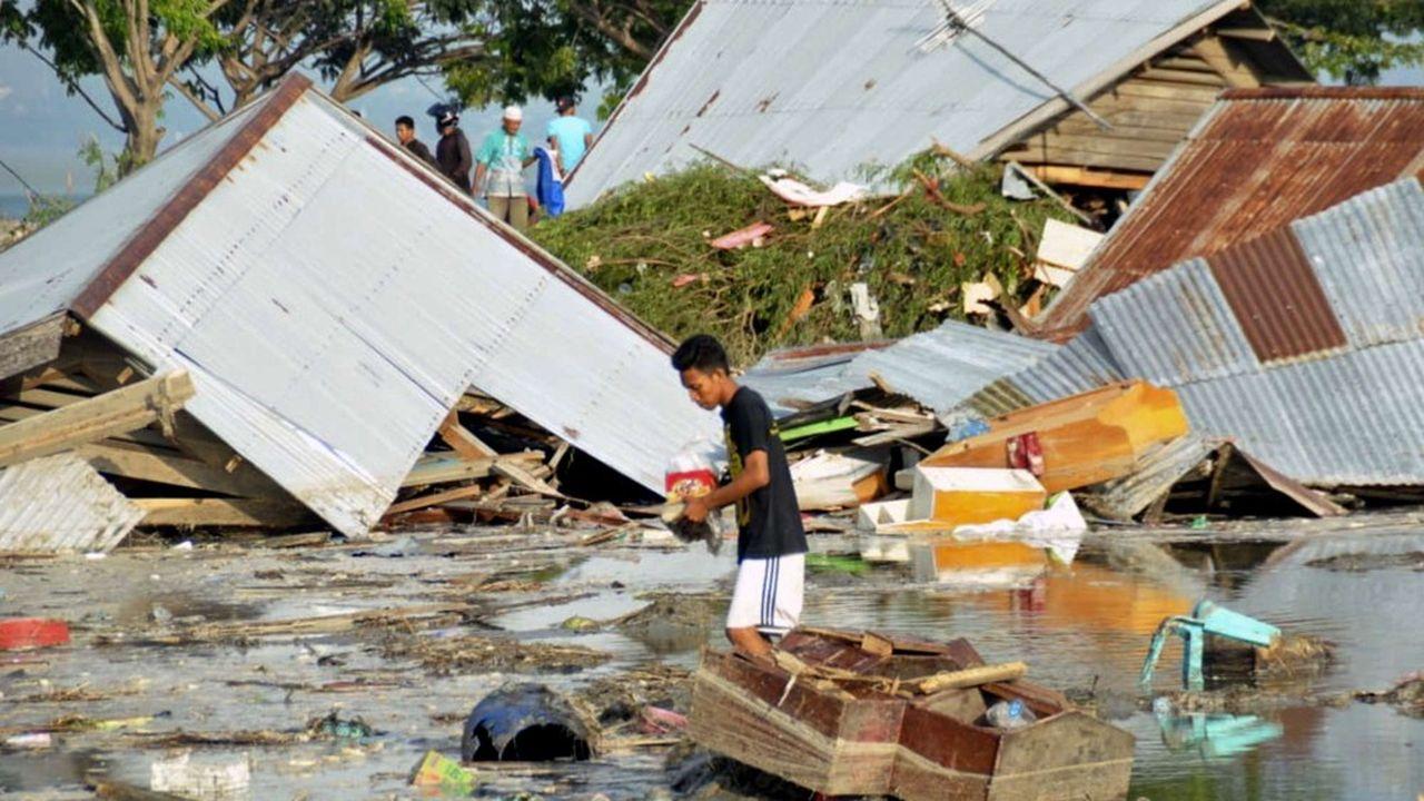 La ville de Palu sur l'île des Célèbes, en Indonésie, a été dévastée.