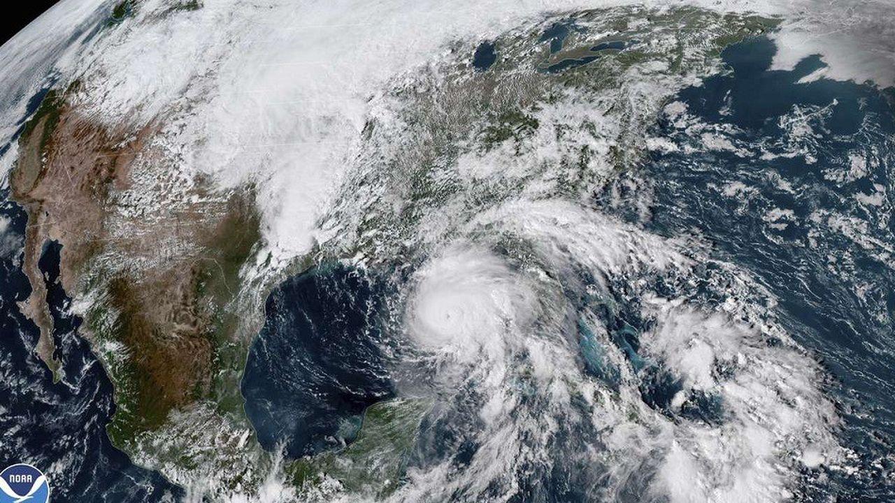 Cette image satellite montre l'arrivée de l'ouragan Michael sur les côtes de Floride aux Etats-Unis, le 9octobre.