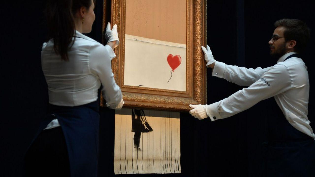Lors de la vente à Sotheby's Londres, le 5octobre dernier, le mécanisme avait réduit en lamelles que la moitié du tableau