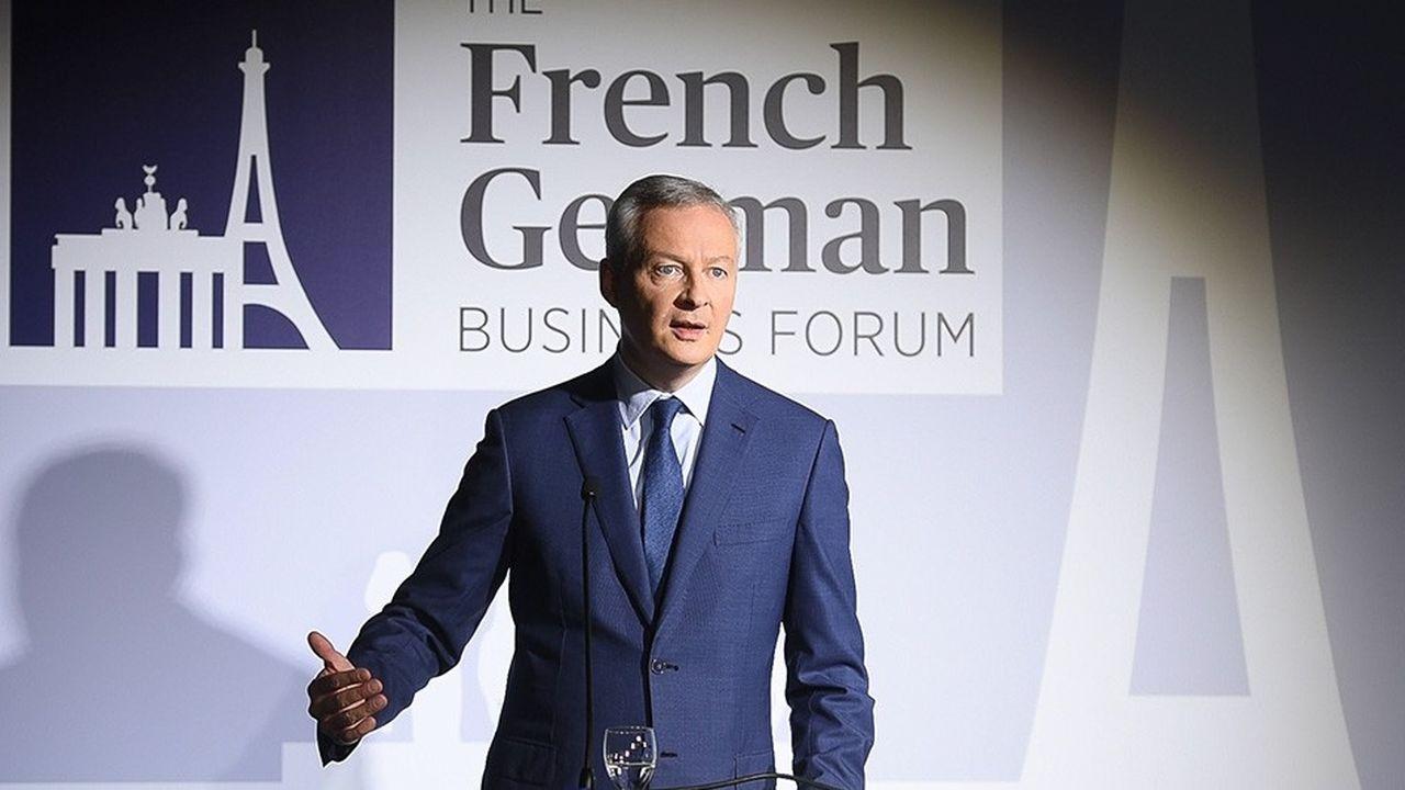 Bruno Le Maire s'est exprimé, vendredi matin, devant un parterre de chefs d'entreprise et de décideurs français et allemands, au siège des «Echos».