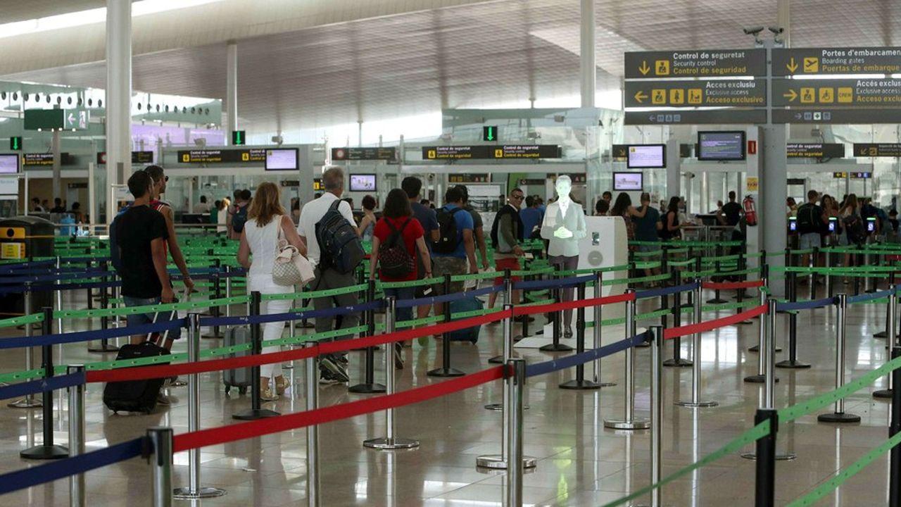 L'aéroport El Prat à Barcelone (Espagne).