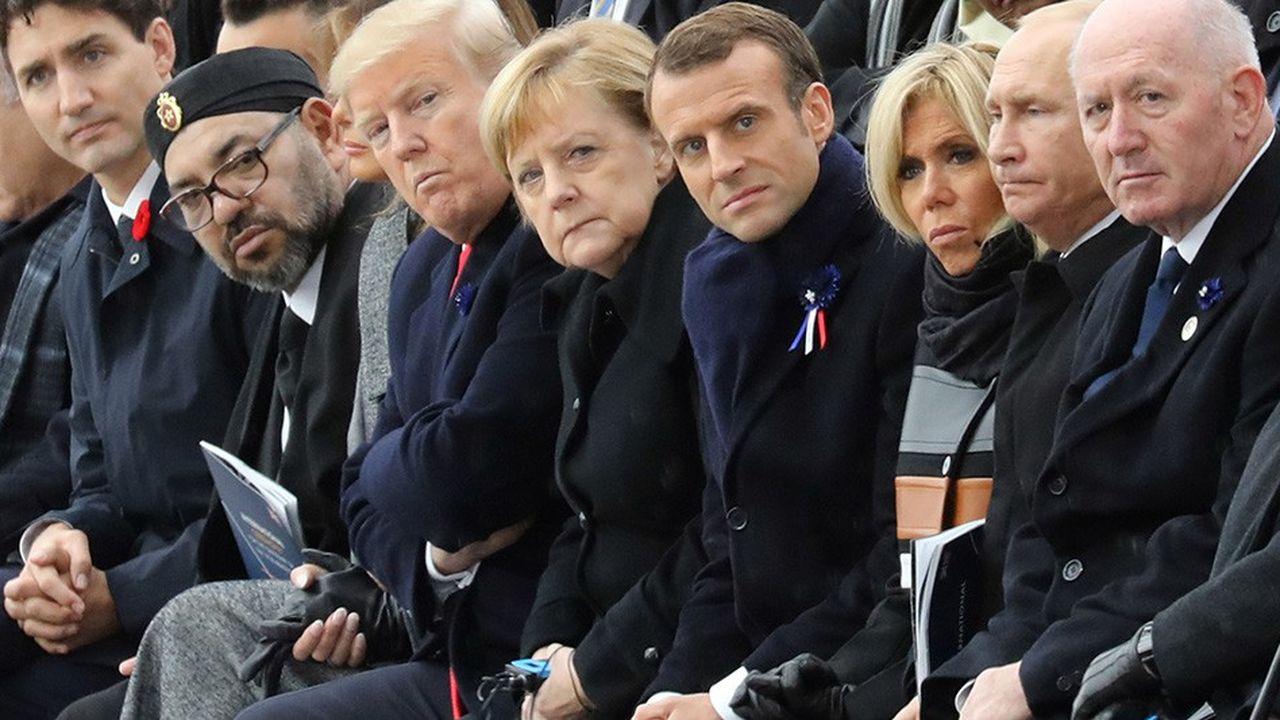 Devant 84 chefs d'Etats et de gouvernements, des anciens combattants et leurs familles, Emmanuel Macron a prononcé dimanche un discours à la fois rempli des leçons de l'histoire et de la volonté de combattre «pour la paix».