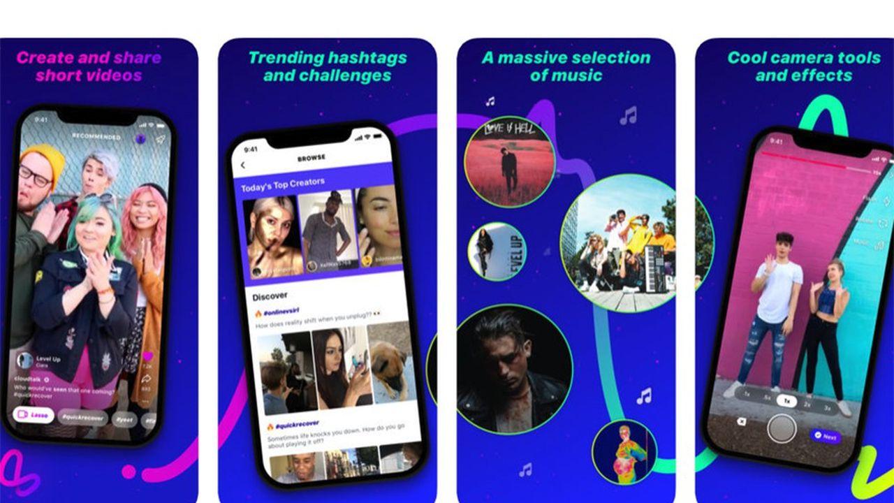 «Lasso», lancé par Facebook le 9novembre, marche sur les plates-bandes de TikTok et de ses 500millions d'utilisateurs mensuels.
