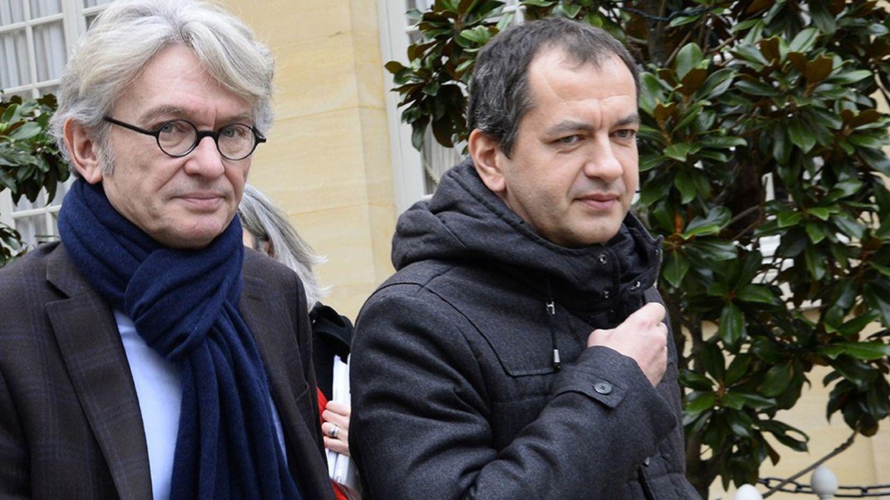 Pascal Pavageau (à droite) avait succédé à Jean-Claude Mailly en avril2018 à la tête de Force ouvrière. Il a démissionné le 17octobre. Un nouveau secrétaire général doit être élu par le parlement de la centrale les 21 et 22novembre.