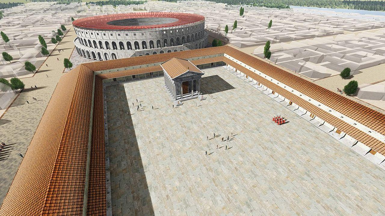 Octus a testé son concept avec la reconstitution de l'amphithéâtre gallo-romain de 5.000places, au coeur de Samarobriva, l'actuel Amiens.