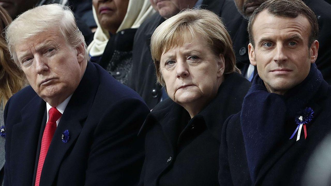 Le président américain s'était montré distant samedi à l'égard d'Emmanuel Macron et d'Angela Merkel lors des cérémonies de commémoration de l'armistice du 11novembre