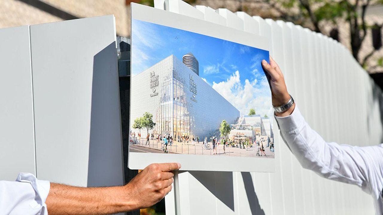 Présentation de la future façade du centre commercial de la Part Dieu à Lyon