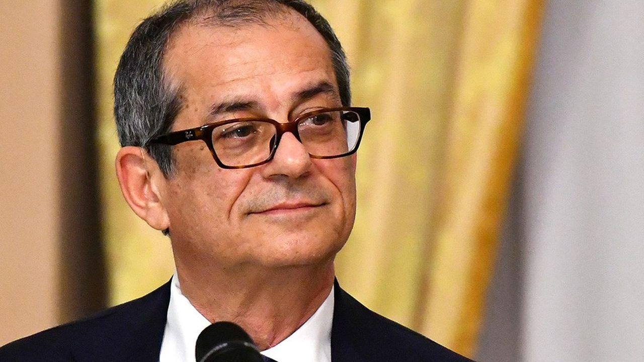 Le ministre italien de l'Economie et des finances, Giovanni Tria.