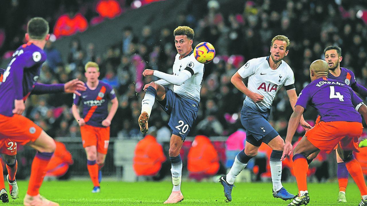 Lors d'un match de Premier League entre Tottenhamet Manchester City en octobre dernier.