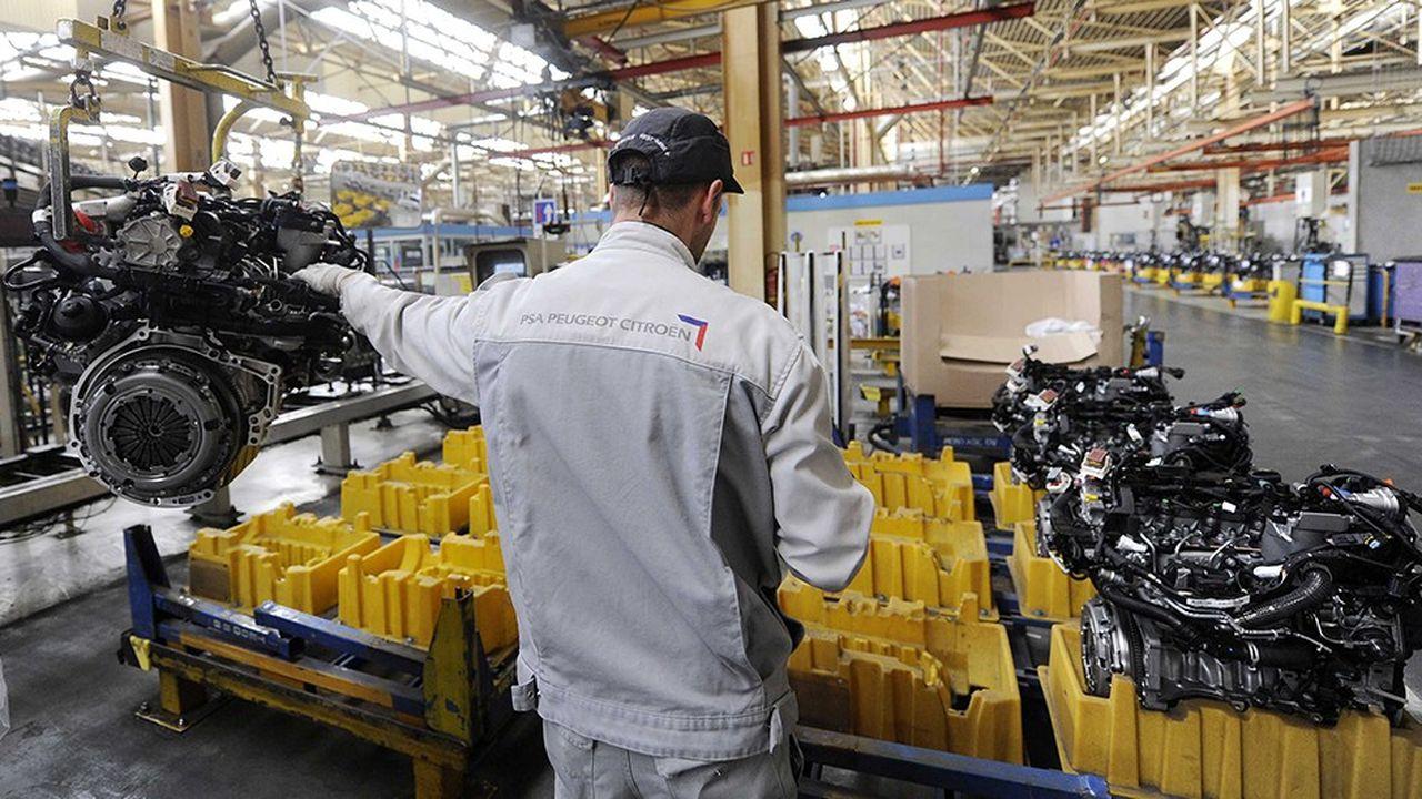 A Trémery (Moselle), une usine où PSA produit de nombreux moteurs diesel, les effectifs sont menacés à moyen terme par l'électrification de l'automobile.