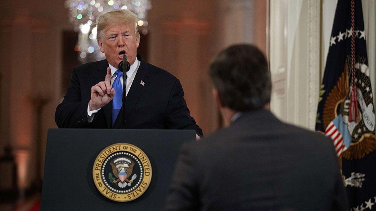 L'altercation entre Donald Trump et le journaliste Jim Acosta avait eu lieu le 7novembre, lors d'une conférence de presse à la Maison blanche