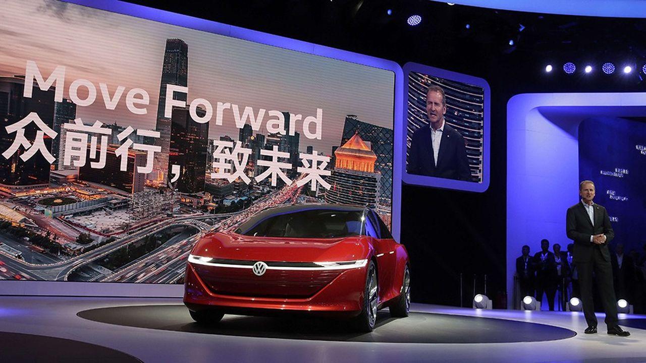 Herbert Diess, le PDG de Volkswagen. La Chine pèse environ 40% des ventes du groupe.