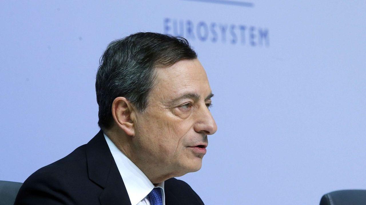 Mario Draghi s'exprime à Francfort lors du Congrès bancaire européen