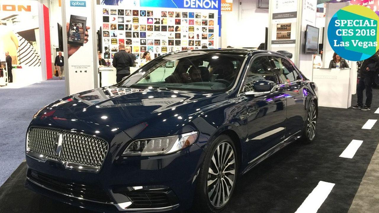 La Ford Lincoln de Qobuz au CES de Las Vegas.
