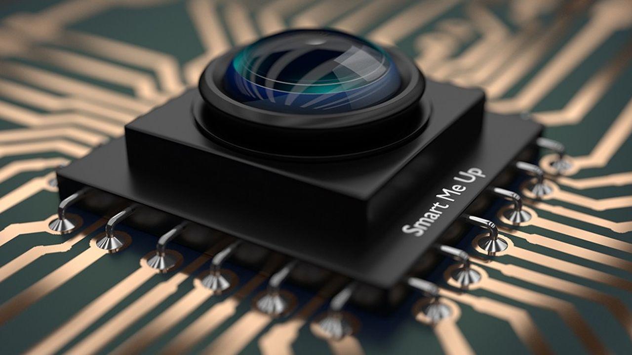 Si les processeurs ne sont pas encore équipés de capteurs vidéo permettant la reconnaissance d'images, comme sur cette vue d'artiste, un nombre croissant d'entreprises proposent des puces conçues spécialement pour l'intelligence artificielle.