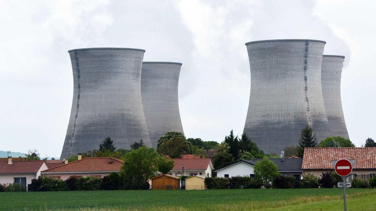 La centrale nucléaire de Bugey à Saint-Vulbas dans l'Ain.