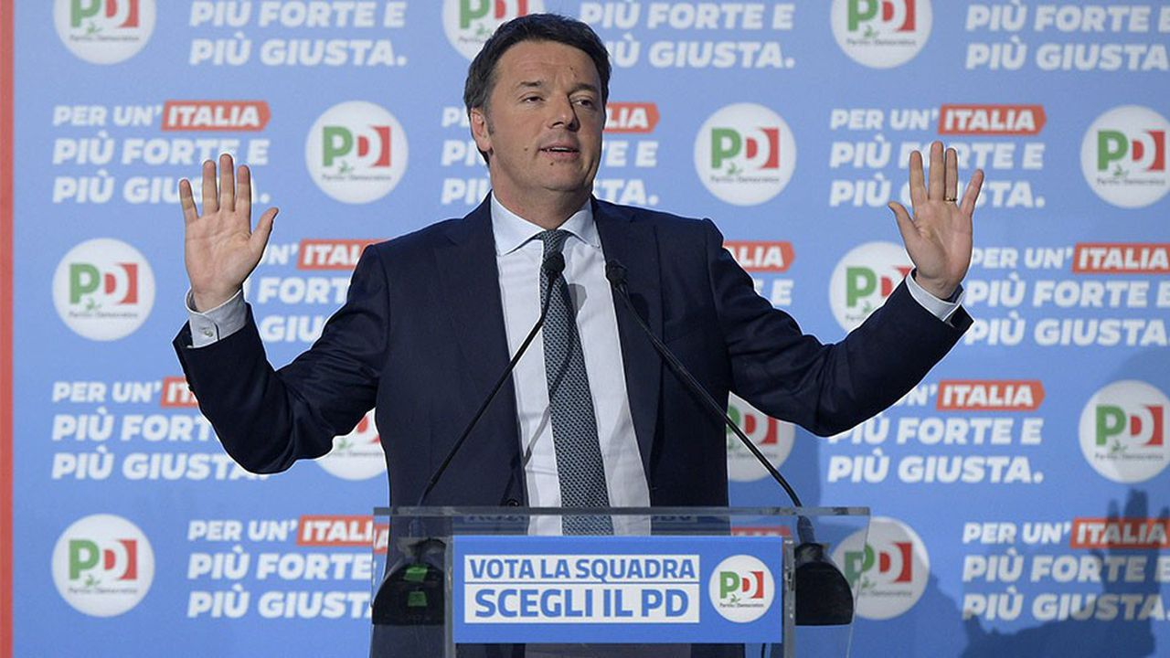 L'ancien Président du conseil italien lutte aujourd'hui pour sa survie politique. Ici, en campagne léectorale, le 27 février dernier