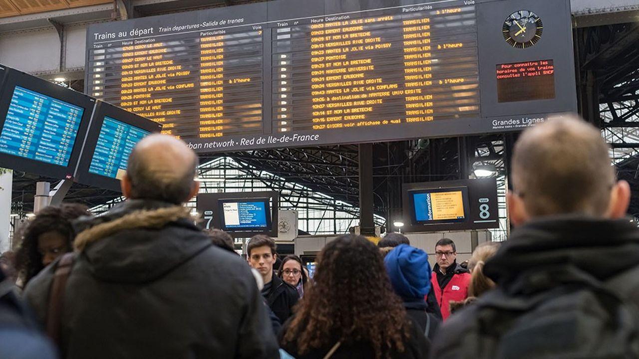 Gare Saint-Lazare, à Paris.