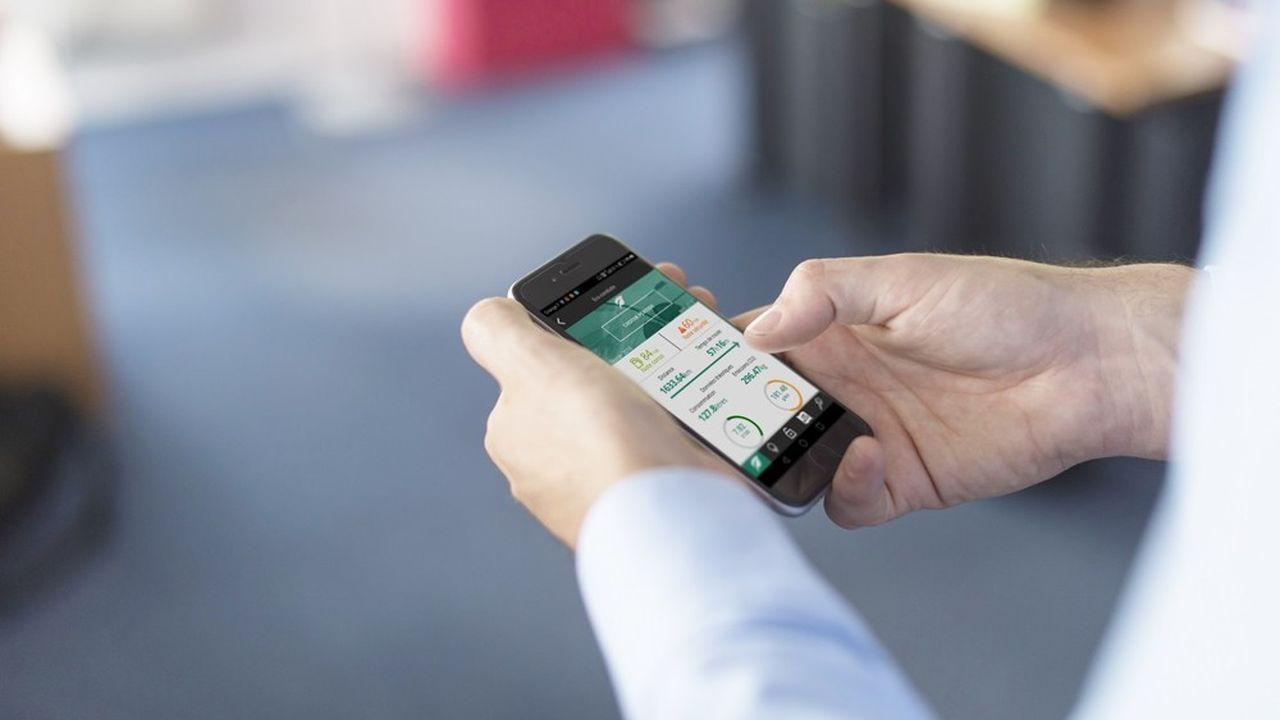 L'utilisateur du véhicule équipé d'un boîtier Ocean reçoit, via une application mobile, une note qui résume sa façon de se comporter au volant.