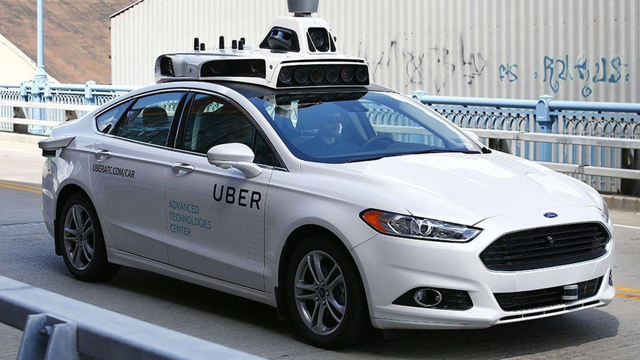 Une Ford Fusion autonome testée par Uber en 2016.