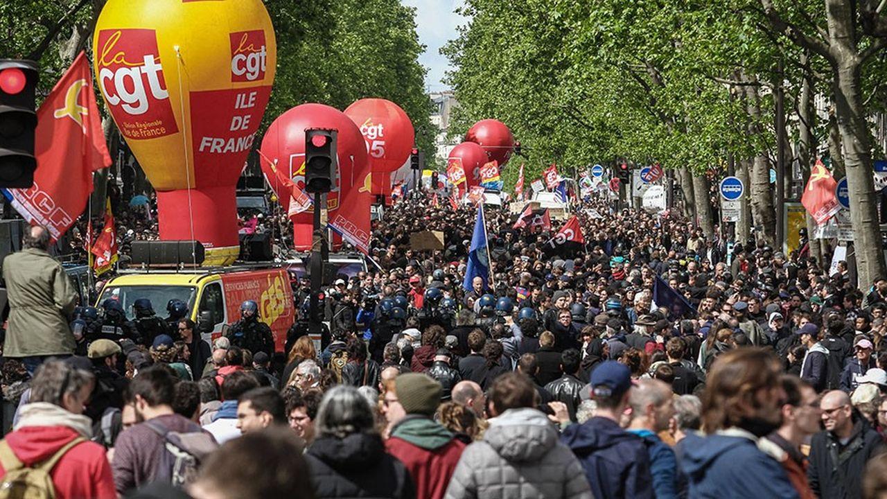 Lors du 1ermai 2017, les syndicats avaient déjà défilé en rangs dispersés.