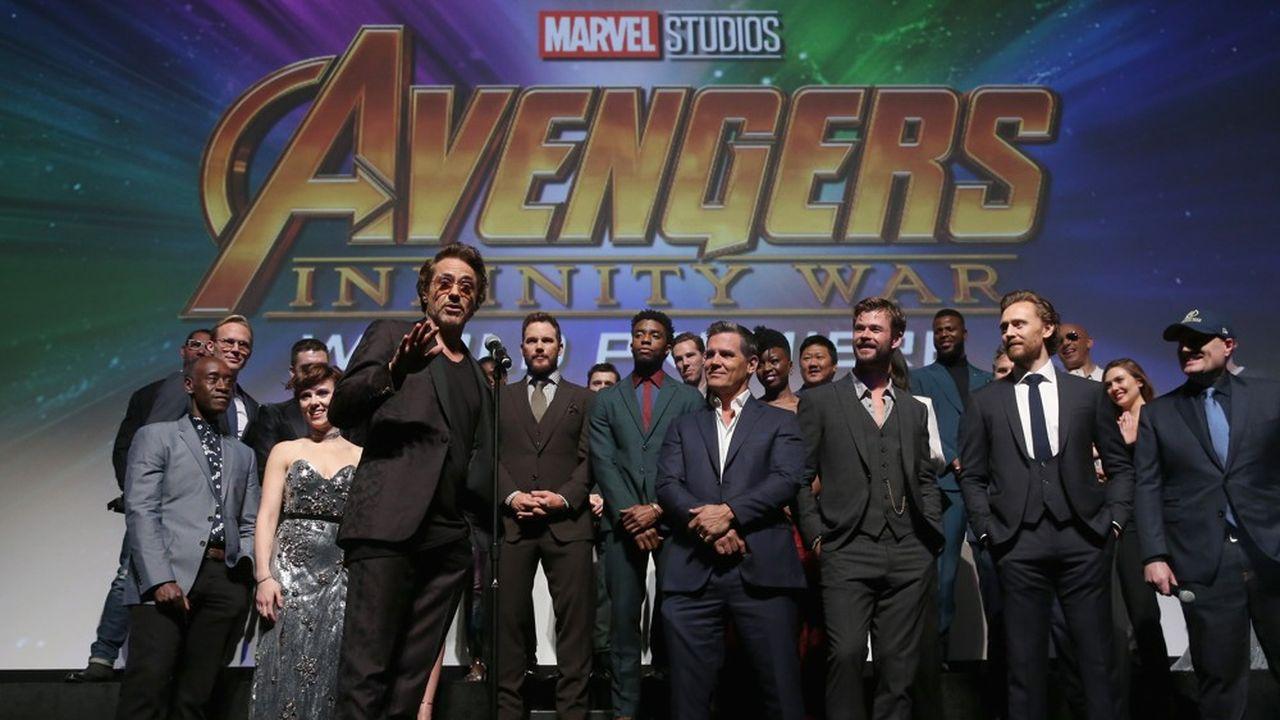 Le casting de «Avengers: Infinity Wars» lors de la première du film à Hollywood le 23avril.