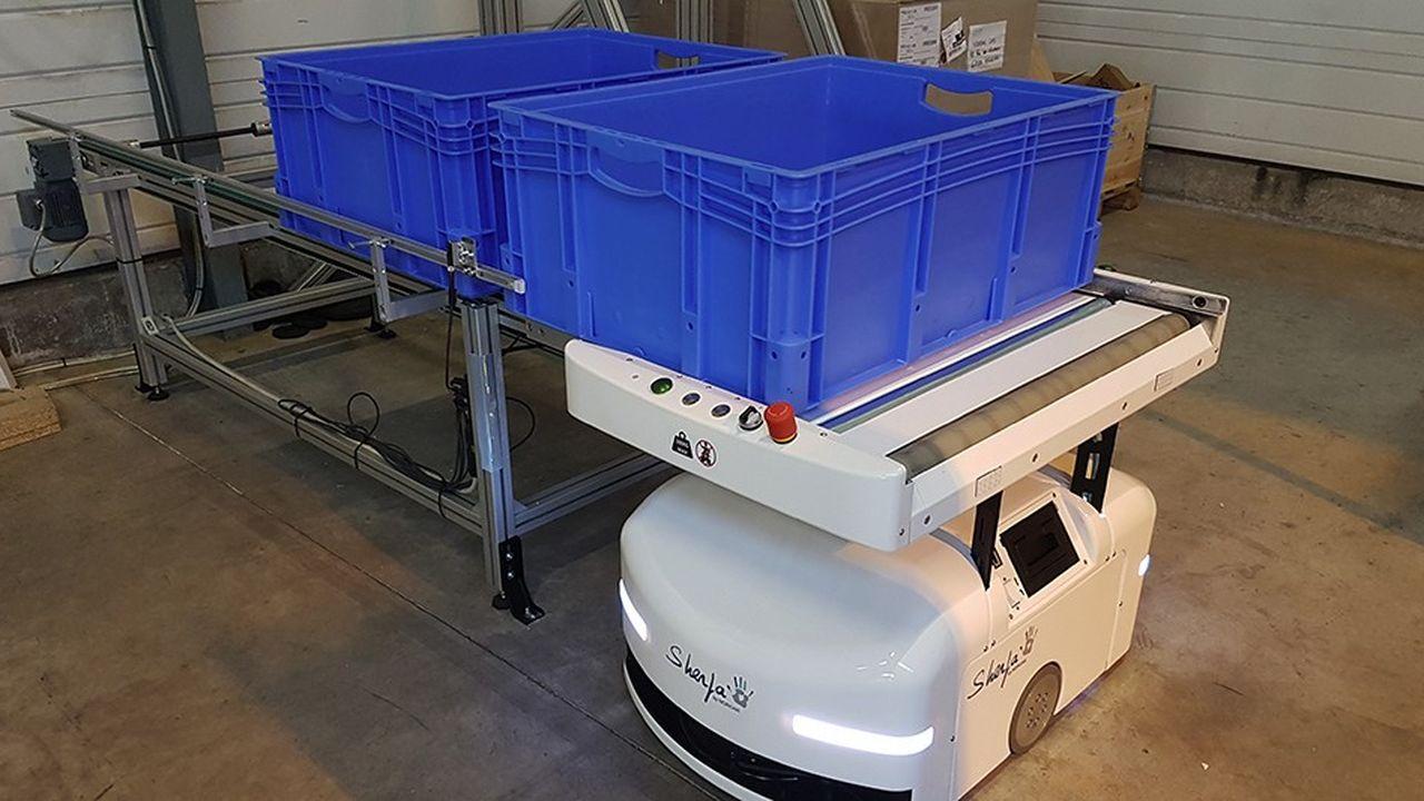Le robot Sherpa est créé pour suivre les opérateurs dans les centres de logistique notamment.