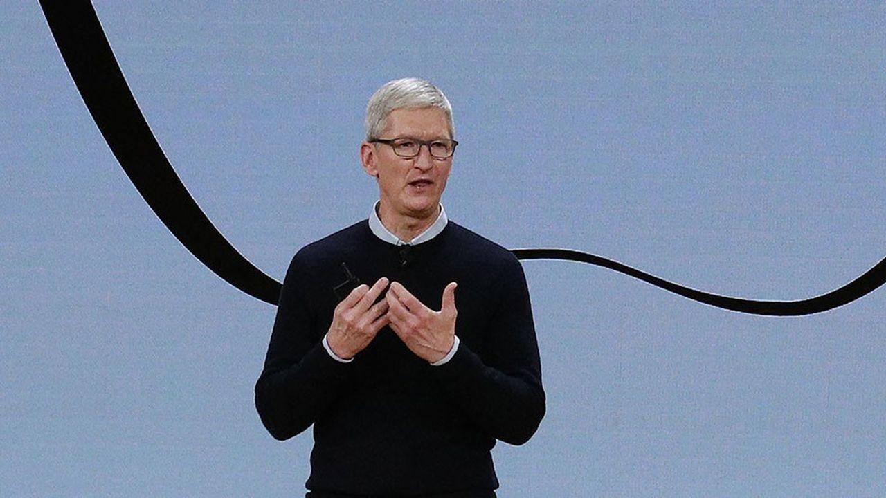Le PDG d'Apple, Tim Cook, a annoncé mercredi les deuxièmes meilleurs résultats trimestriels de l'histoire de la firme à la pomme