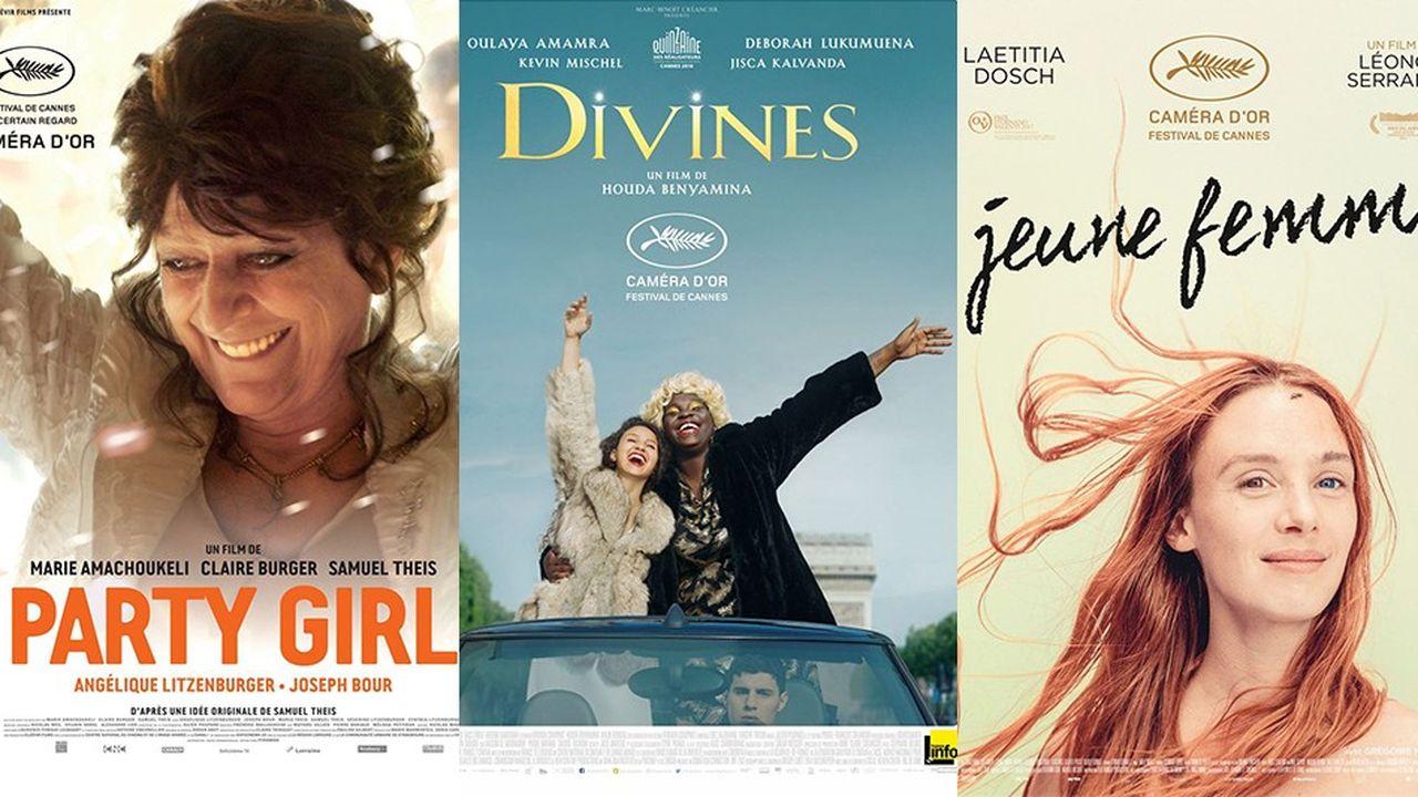 Trois premiers films français ont été récemment récompensés par le prix caméra d'or à Cannes : « Party Girl » de Marie Amachoukeli, Samuel Theis et Claire Burger en 2014 ; « Divines » de Houda Benyamina en 2016 ; et « Jeune Femme » de Léonor Serraille en 2017.