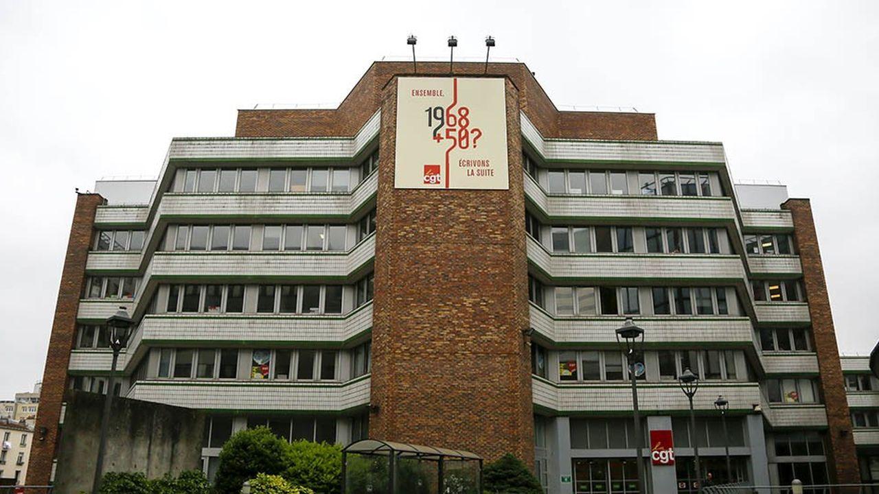 Le siège de la CGT, à Montreuil, en Seine-Saint-Denis.