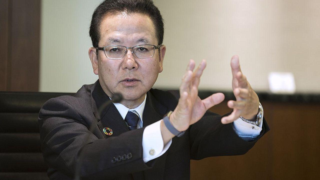 Tatsuya Tanaka, président de Fujitsu.