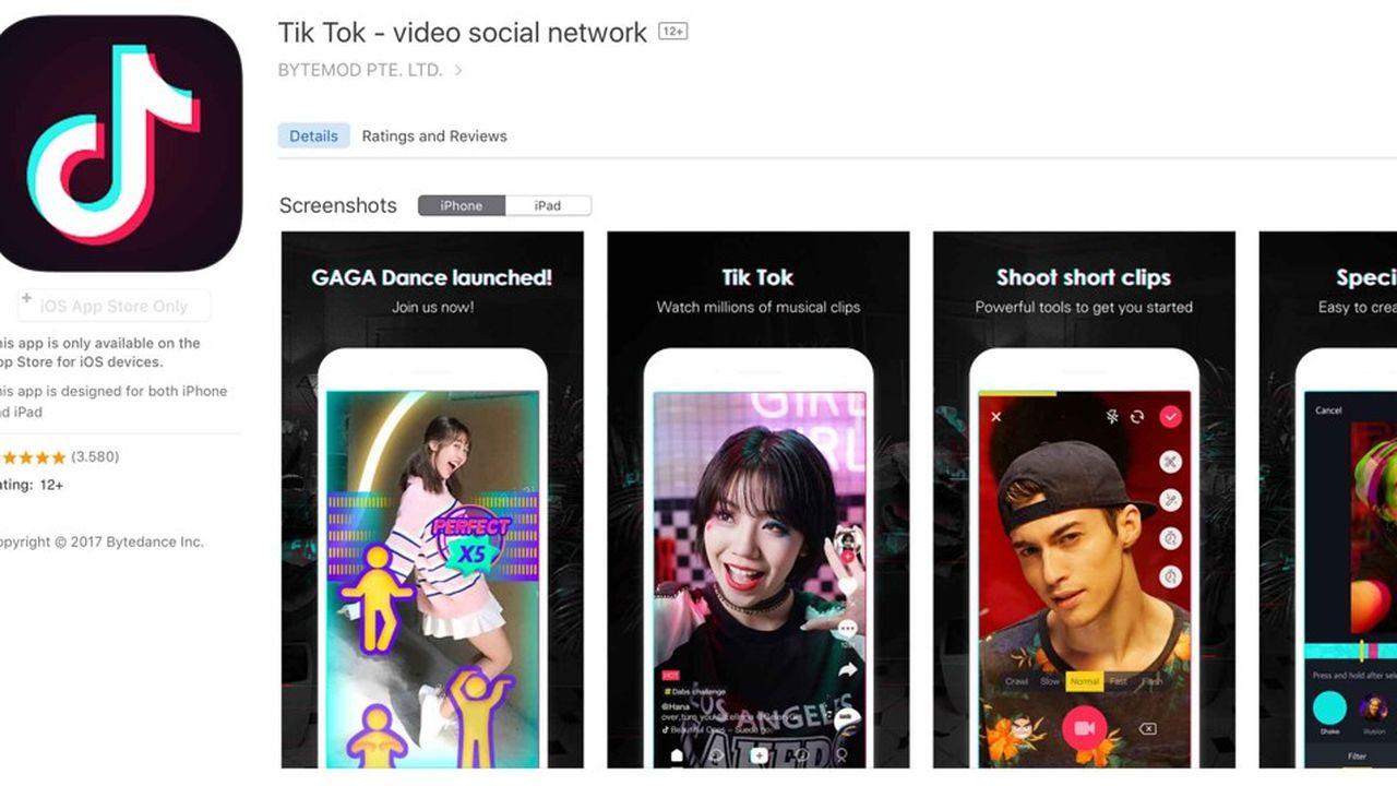 Téléchargée près de 46millions de fois sur l'App Store au premier trimestre, Tik Tok est utilisée par des adolescents dont les profils seraient facilement accessibles.