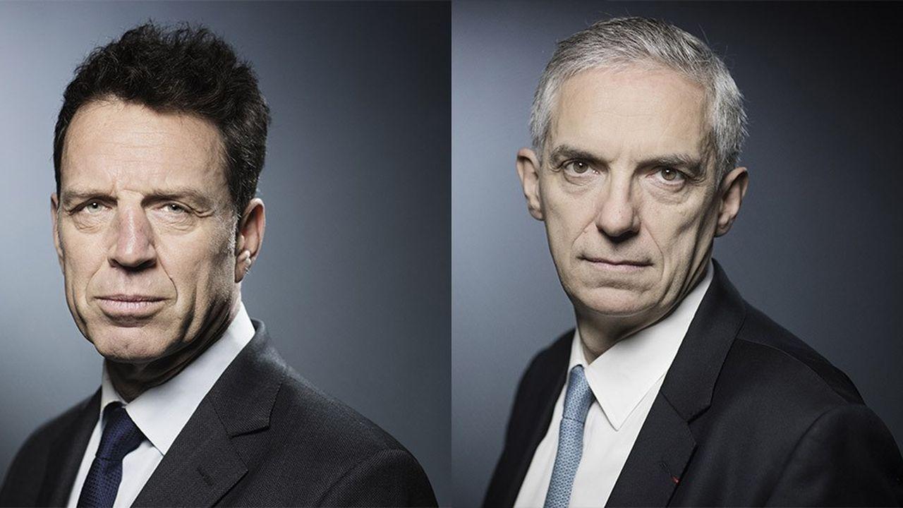 Geoffroy Roux de Bézieux et Alexandre Saubot font figure de favoris dans la course à la présidence du Medef.