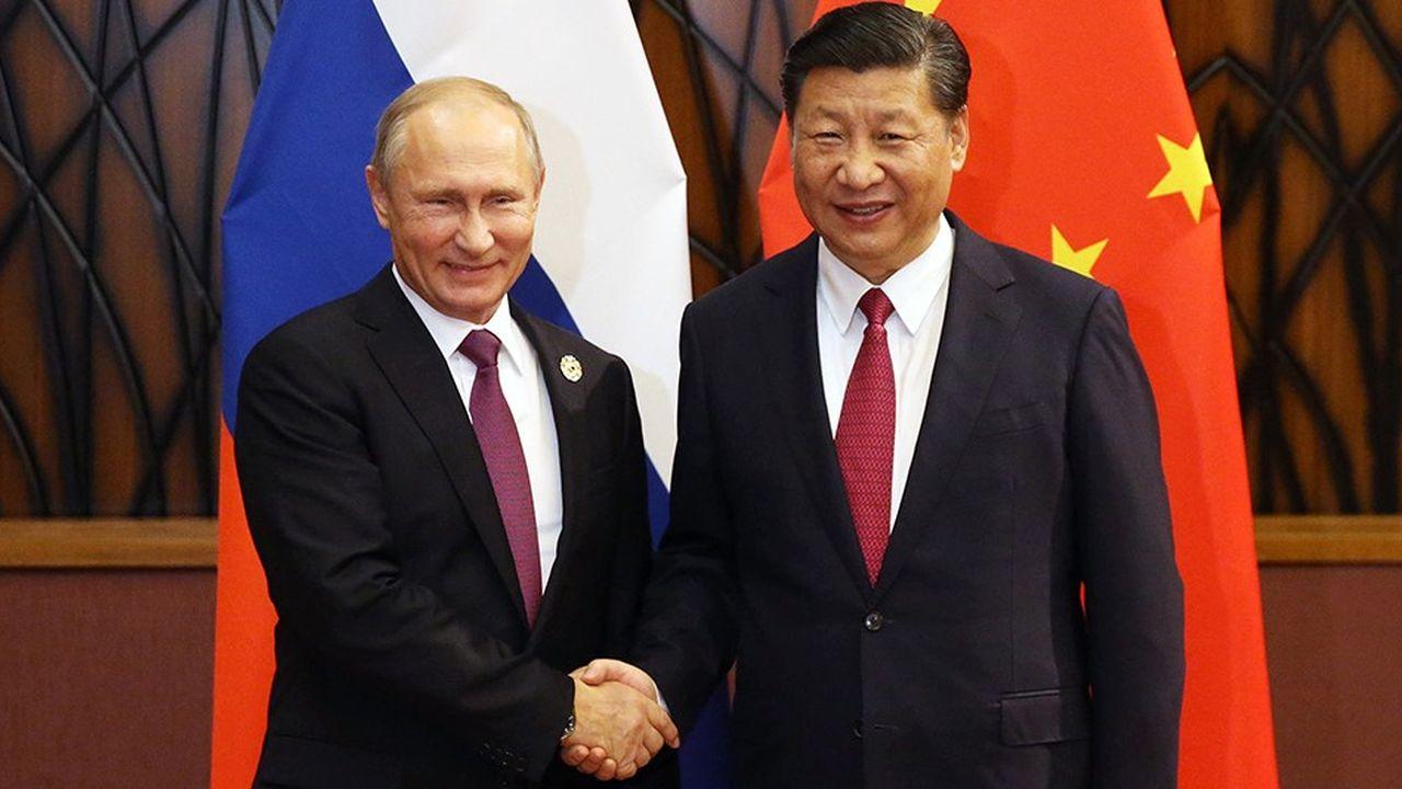 Le président russe Vladimir Putine et le président chinois Xi Jinping.
