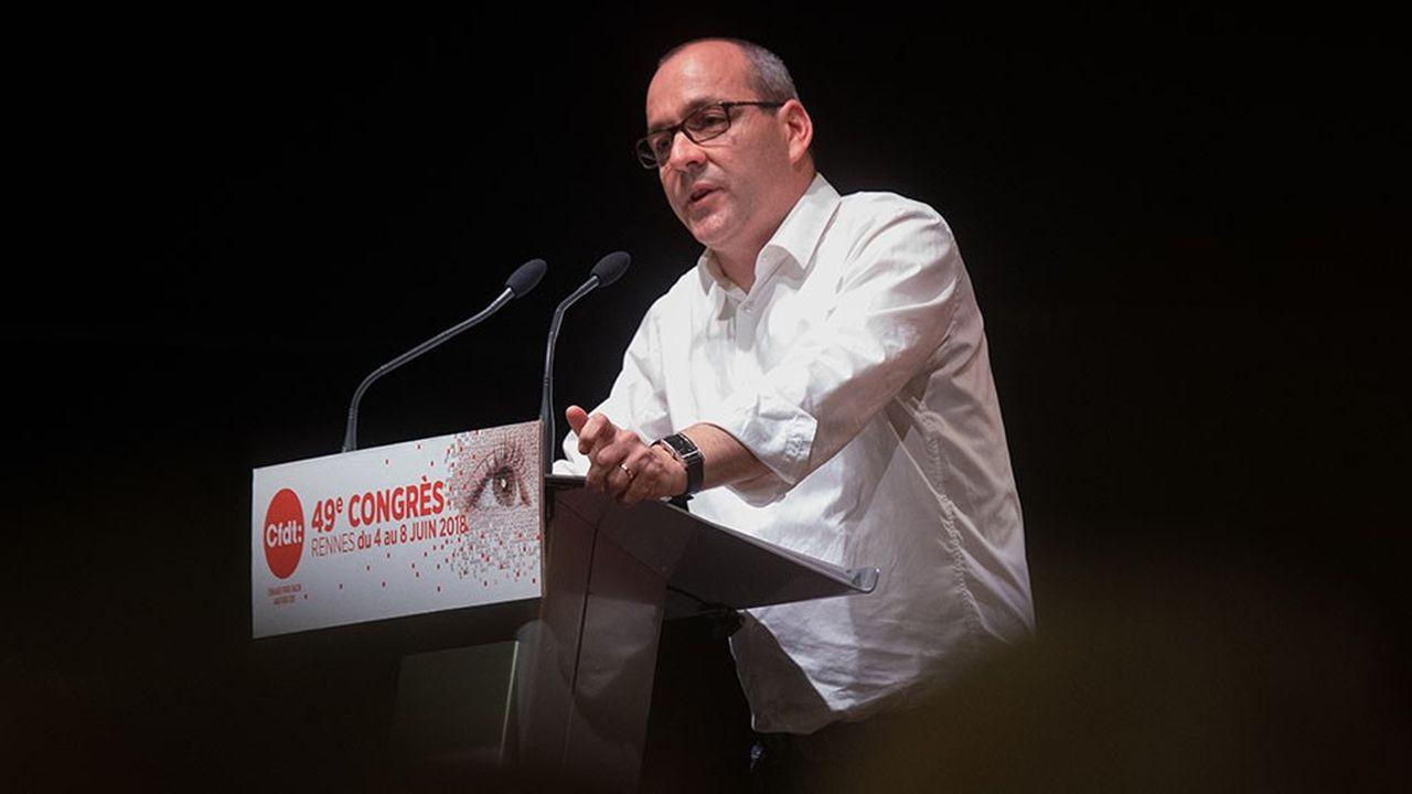 Le secrétaire général de la CFDT, Laurent Berger, a répondu mercredi après-midi aux 114interventions sur le bilan de la centrale.