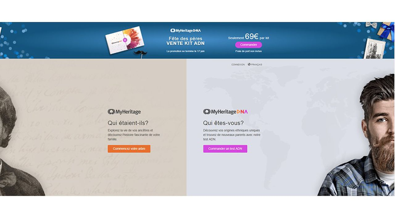 Le site MyHeritage compte 96millions d'utilisateurs dans le monde.