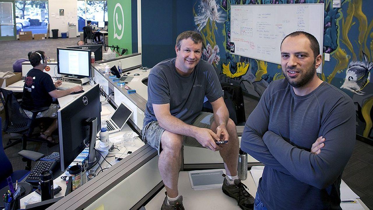 Les fondateurs de WhatsApp, Brian Acton, et Jan Koum, ont quitté leur entreprise à quelques mois d'intervalles.