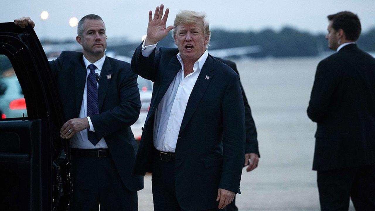 Le président des Etats-Unis Donald Trump de retour aux Etats-Unis après sa rencontre avec Kim Jong-un.