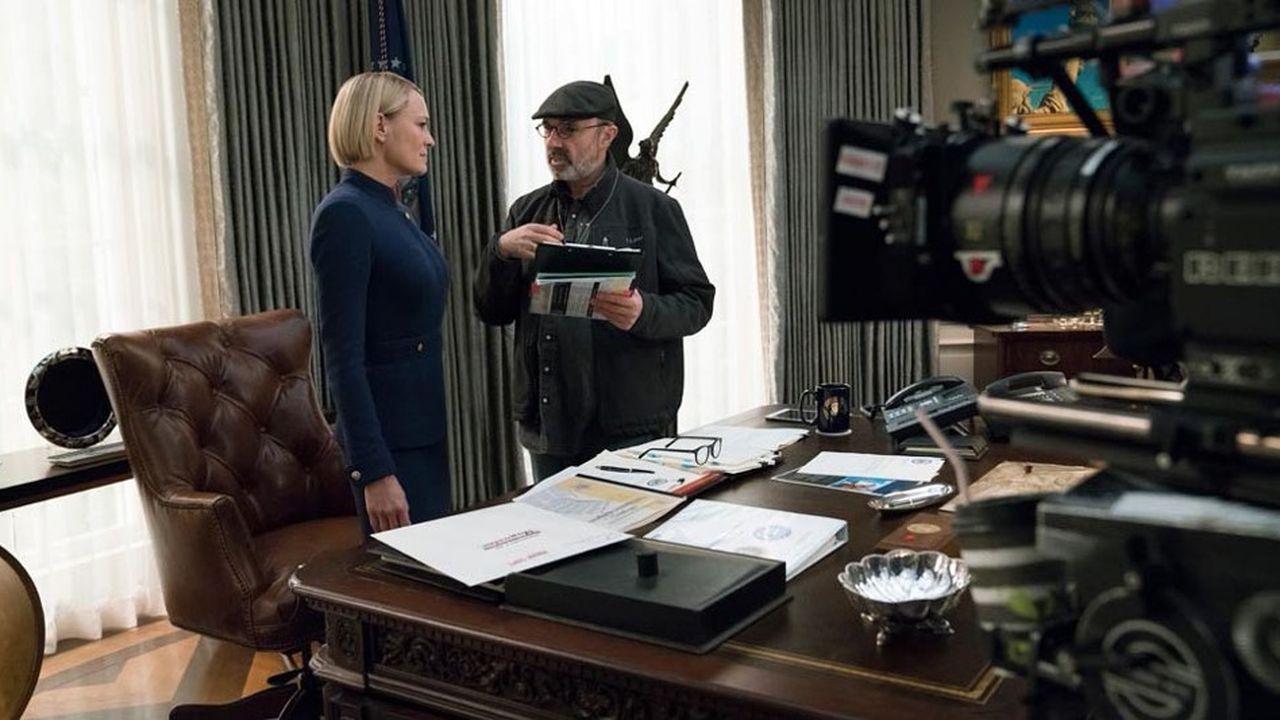 En l'absence du personnage Franck Underwood, interprété par Kevin Spacey, la dernière saison de House of Cards est centrée autour de sa femme, Claire Underwood.