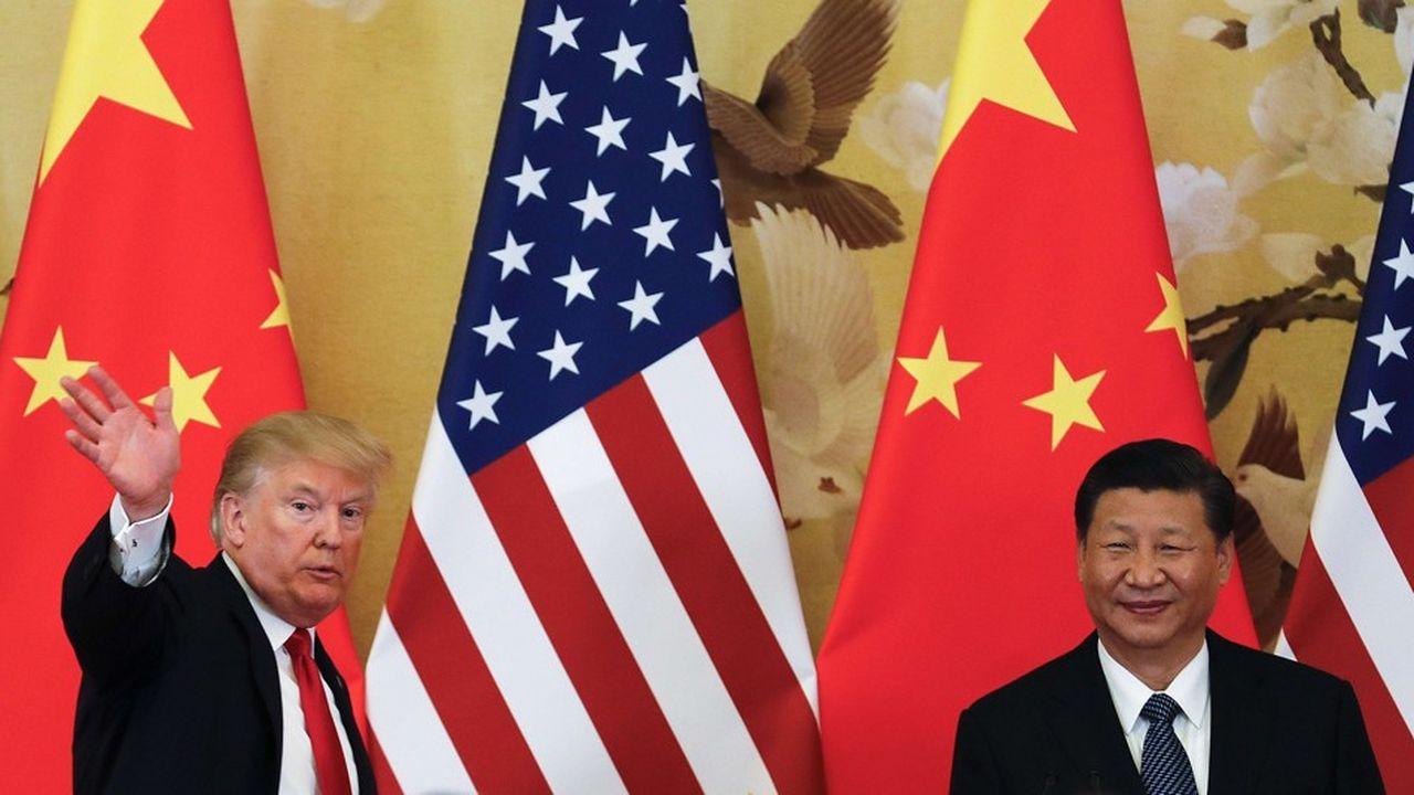 Le président américain Donald Trump et le président chinois Xi Jinping.